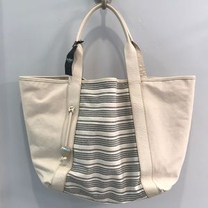 Large oversized canvas tote bag